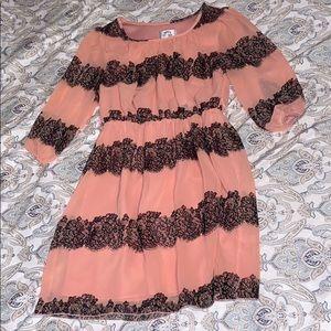 Pink/Black Midi Dress